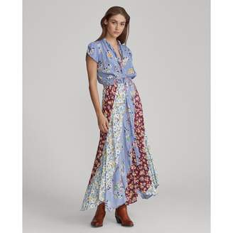 Ralph Lauren Patchwork Silk Maxidress