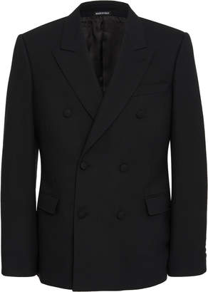 Alexander McQueen Double-Breasted Wool And Silk-Blend Crepe Blazer