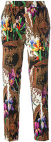Etro floral print cropped trousers - women - Silk - 40