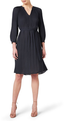 David Lawrence Pleated Spot Dress