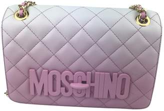 Moschino Pink Leather Handbags