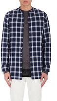 Ovadia & Sons Men's Plaid Cotton-Blend Tunic Shirt