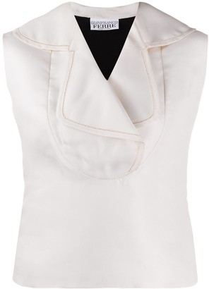Gianfranco Ferré Pre Owned 1990s Sleeveless Two-Tone Blouse
