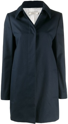 Nina Ricci Pointed-Collar Single-Breasted Coat