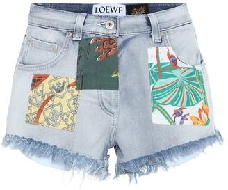 Loewe Paula's Ibiza high-rise denim shorts