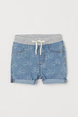 H&M Patterned denim shorts