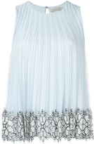 Christopher Kane pleated sleeveless top - women - Silk/Nylon/Polyamide/Acetate - 46