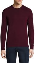Burberry Richmond Plaid Check Elbow Crewneck Cashmere Sweater