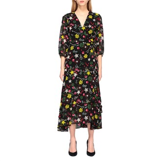 Liu Jo Long Dress With All Over Prints