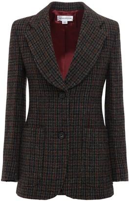Victoria Beckham Check Wool Blazer