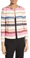 Kate Spade Women's Berber Stripe Collarless Jacket