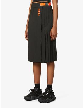 Puma x Central Saint Martins stretch-jersey midi skirt