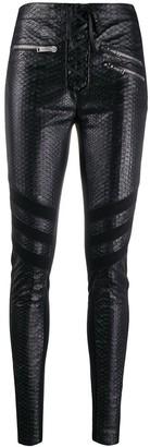 Redemption Snakeskin Skinny Trousers