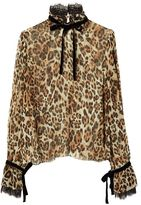 Exclusive for Intermix Dia Leopard Print Blouse