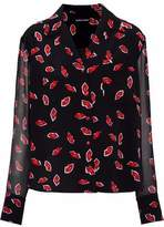 Markus Lupfer Paneled Printed Silk Shirt