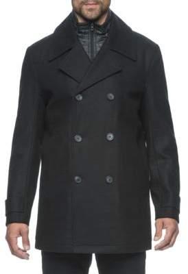 Andrew Marc Long Sleeve Wool Peacoat