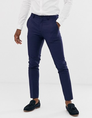 Jack and Jones super slim fit stretch suit trousers in navy