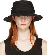 Y's Ys Black Ribbon Cloche Hat
