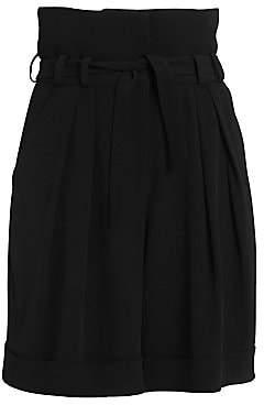Balmain Women's High Waist Crepe Bermuda Shorts