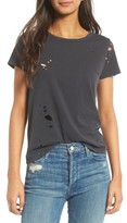 Mother Women's Itty Bitty Goodie Goodie Destroyed Cotton Tee