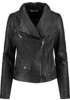 Vince Textured-Leather Biker Jacket