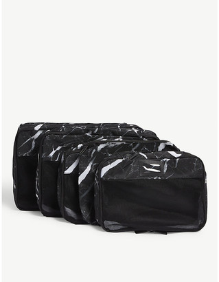 CalPak Midnight Marble packing cubes set of five