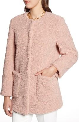 Halogen Faux Shearling Teddy Coat
