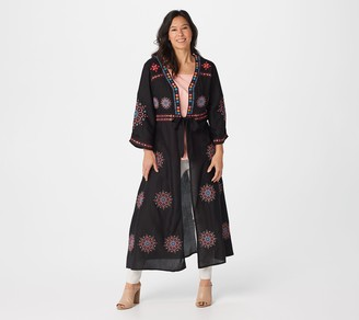 Tolani Collection Petite Embroidered Duster