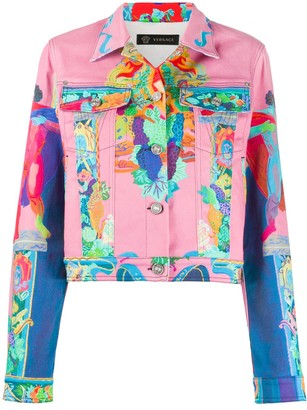 Versace Printed Denim Jacket