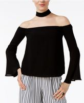 Endless Rose Off-The-Shoulder Choker-Neck Top