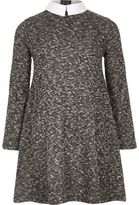 River Island Girls grey Peter Pan collar dress