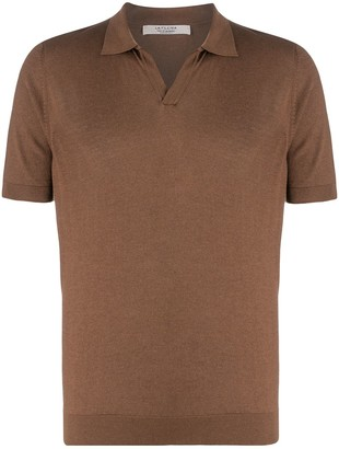 La Fileria For D'aniello V-Neck Polo Shirt