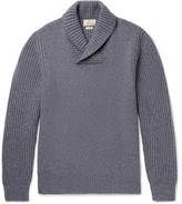 Hackett Shawl-Collar Wool, Yak and Cashmere-Blend Sweater