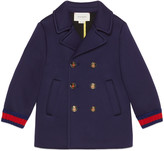 Gucci Children's jersey pea coat with Web