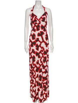Diane von Furstenberg Silk Long Dress White