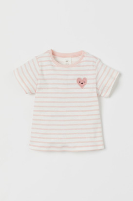 H&M Embroidered-detail T-shirt - Pink