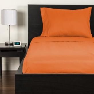 Crayola Outrageous Orange Full size Microfiber sheet set
