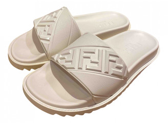 Fendi White Rubber Sandals