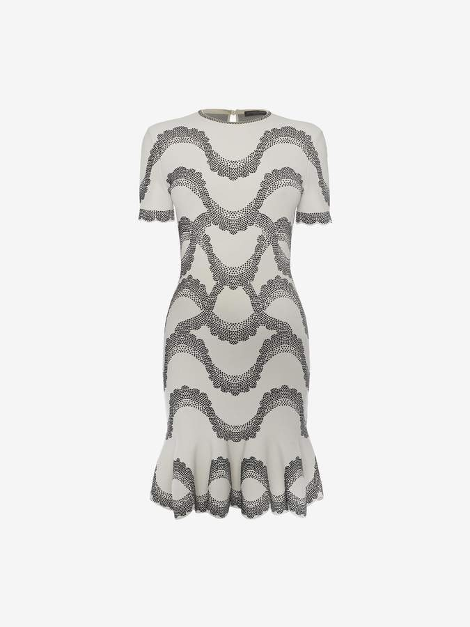 Alexander McQueen Jacquard Knit Mini Dress