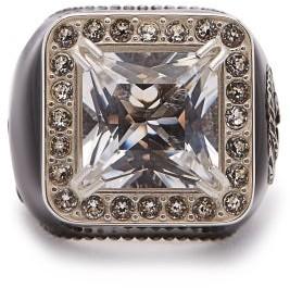 Gucci Crystal-embellished Signet Ring - Crystal