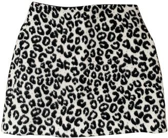 Maje Grey Wool Skirt for Women