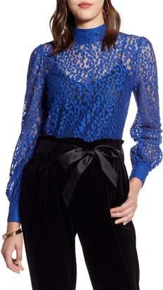 Halogen Blouson Sleeve Lace Top