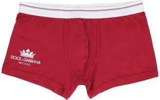 Dolce & Gabbana Fine Combed Cotton Trunks With Logo