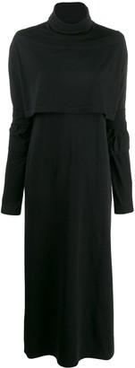 MM6 MAISON MARGIELA roll neck jersey maxi dress