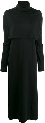 MM6 MAISON MARGIELA Roll Neck Jersey Maxi Dress