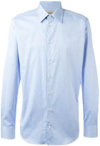 Armani Collezioni plain shirt - men - Cotton/Elastolefin - 42