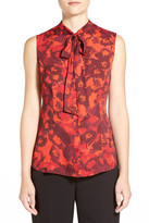 Anne Klein Fado Sleeveless Bow Blouse