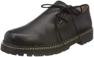 Stockerpoint Women's Schuh 1224 Lace-Up Flats Black Black Black Size: