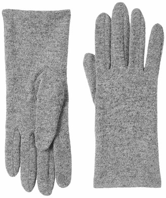 Urban Outfitters UNDER ZERO Womens Touch Screen Grey Gloves with Rhinestone(M)