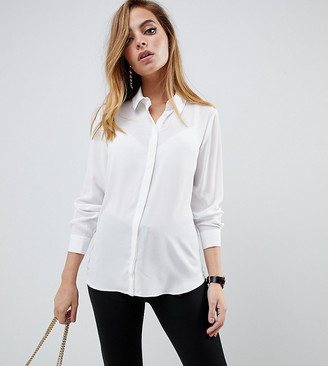 ASOS DESIGN Petite soft long sleeve shirt
